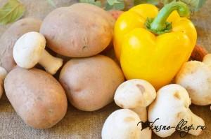 Картофель с грибами рецепт