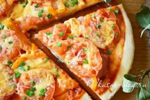 Фото-рецепт пиццы с ветчиной