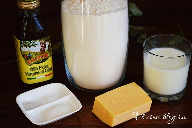 Лепешка с сыром на сковороде