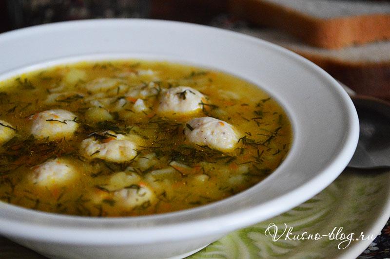 Суп с куриными фрикадельками фото блюда