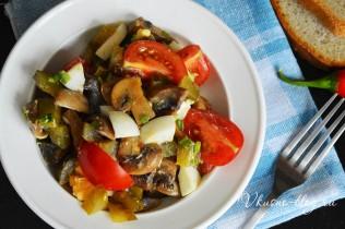 Салат с шампиньонами рецепт пошагово