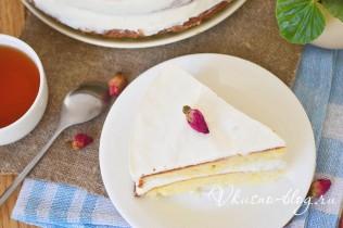 Торт со сливками рецепт с фото