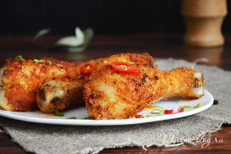 Куриные голени в панировке со специями - простой рецепт