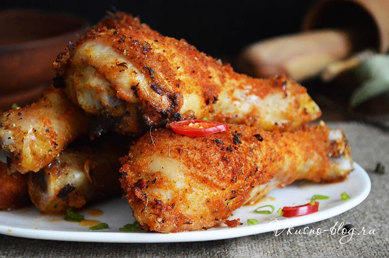 Куриные голени в панировке со специями - фото