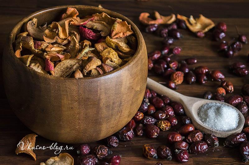 Компот из шиповника и яблок - ингредиенты