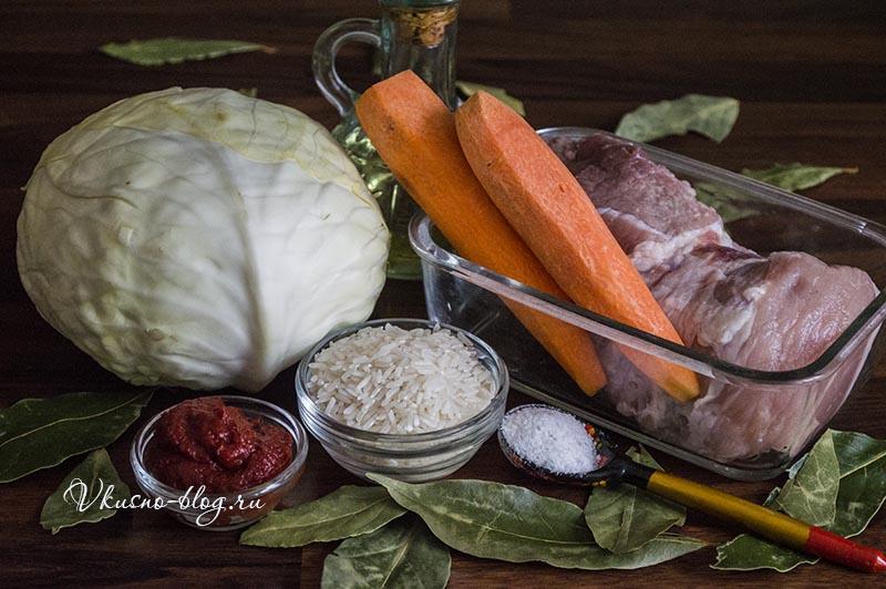 Голубцы в томатном соусе в духовке - ингредиенты