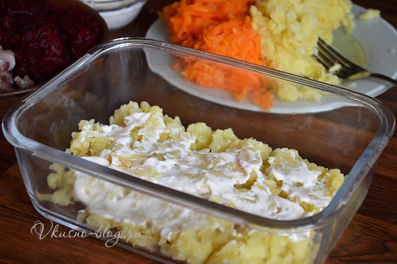Сельдь под шубой классический рецепт - формируем салат