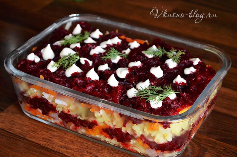 Сельдь под шубой классический рецепт - салат готов