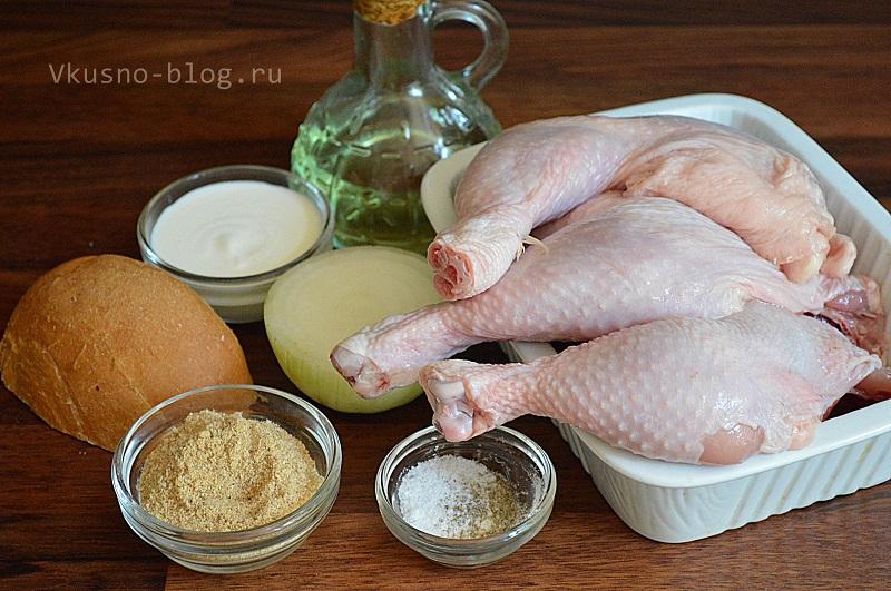 Котлеты из курицы - ингредиенты