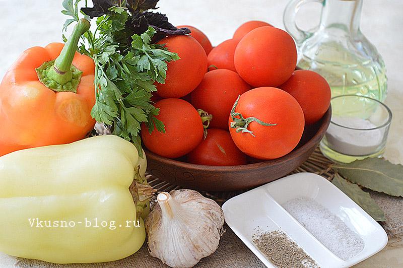 Ингредиенты для приготовления домашнего кетчупа