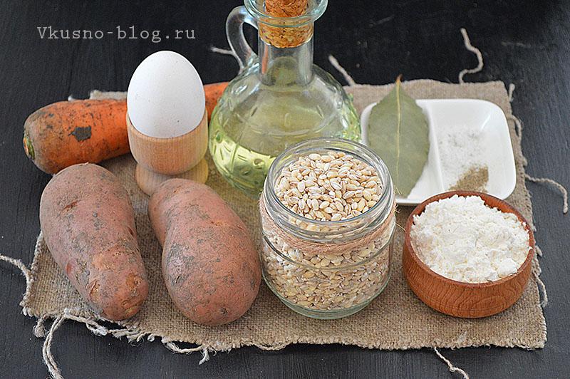 Перловый суп с галушками ингредиенты