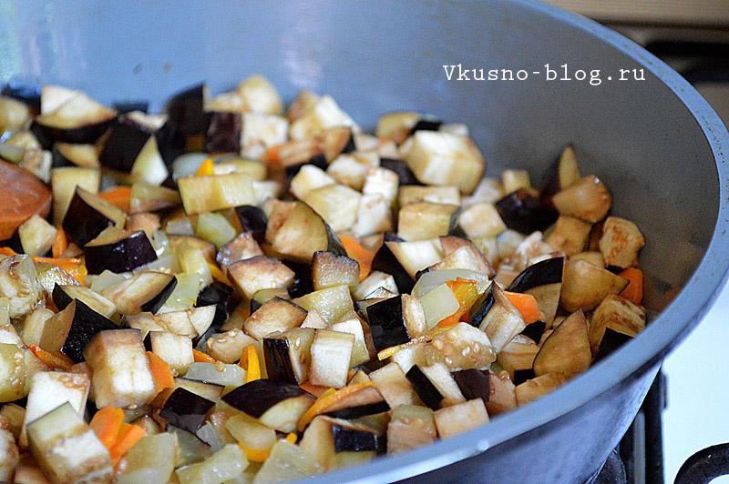 Овощной соус для спагетти тушим овощи