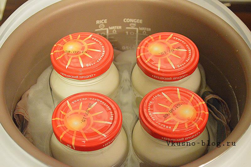 Йогурт в мультиварке Philips 3036/03 - отправляем баночки в мультиварку