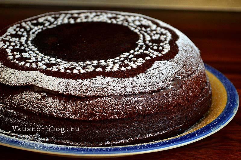 Шоколад на кипятке в мультиварке - торт
