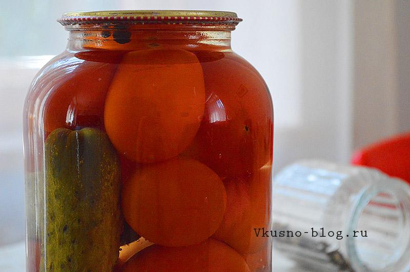 Как мариновать огурцы с помидорами
