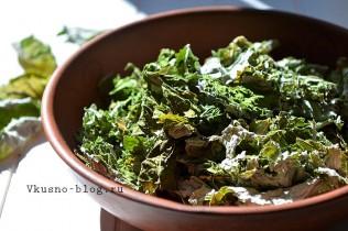 Домашний чай из листьев малины