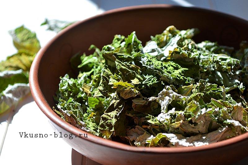 Домашний чай из листьев малины - чай готов