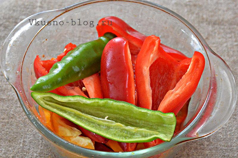 Тещин язык - подготовка овощей