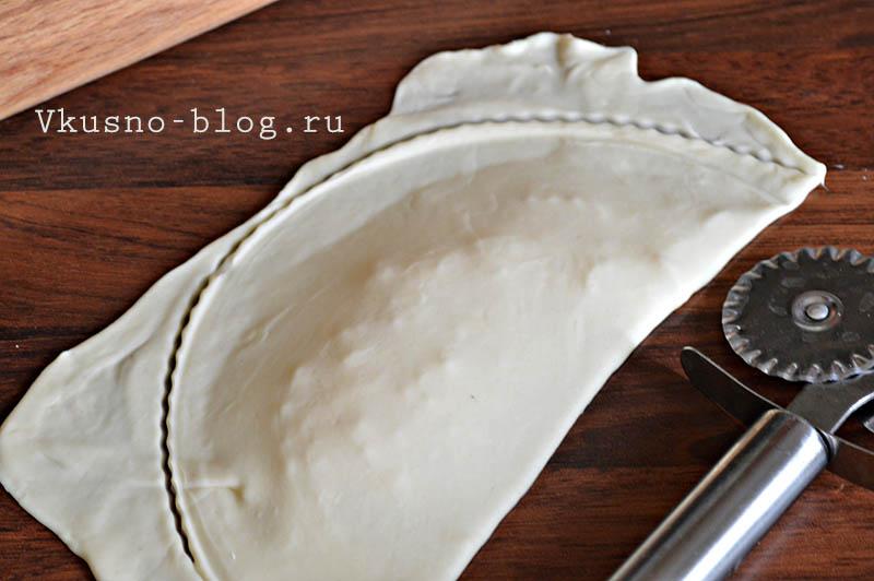 Чебуреки с сыром - лепка