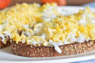 Гренки с яйцом рецепт