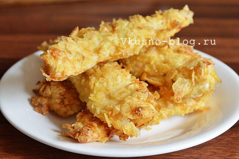 Куриные наггетсы в панировке из чипсов - итог