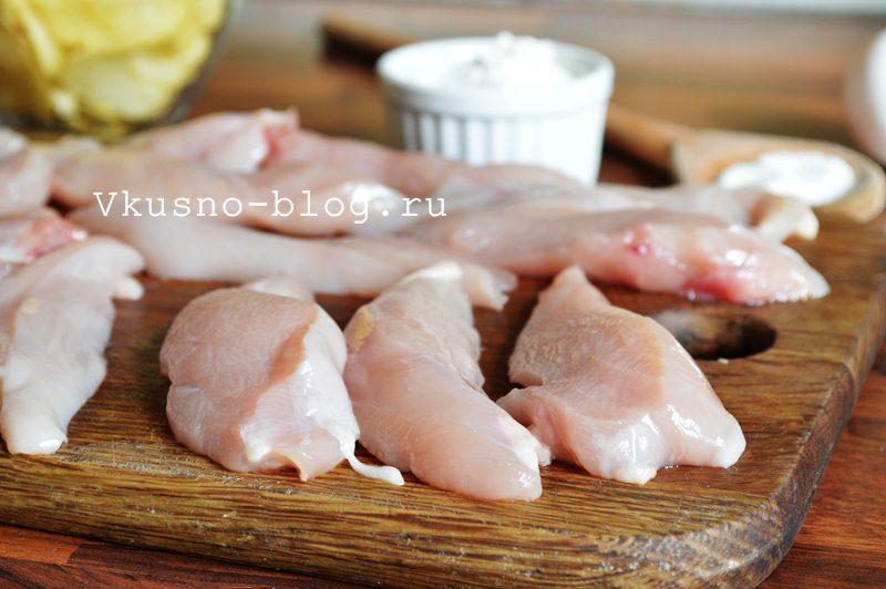 Куриные наггетсы в панировке из чипсов куриное филе