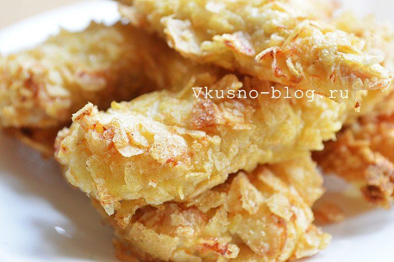 Куриные наггетсы в панировке из чипсов