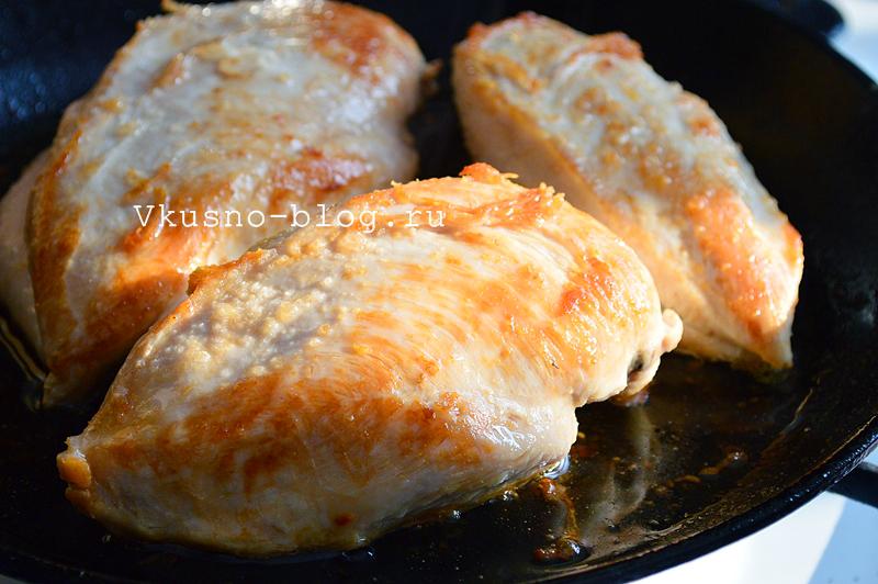 Куриное филе в сливках с сыром - 2