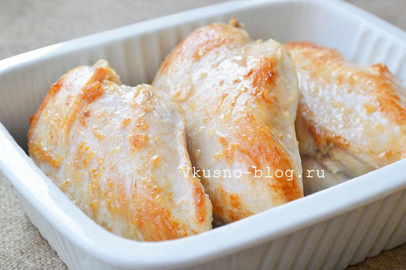 Куриное филе в сливках с сыром - 4