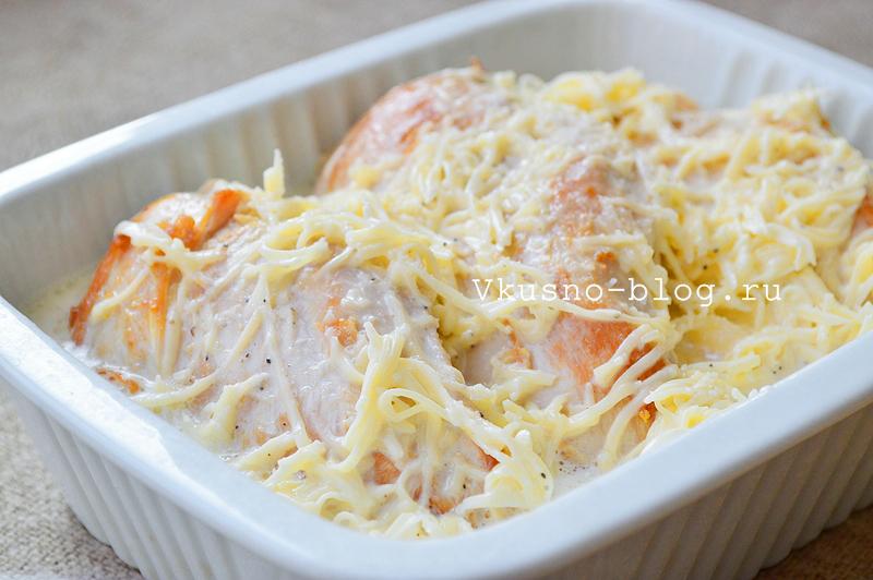 Куриное филе в сливках с сыром - 5