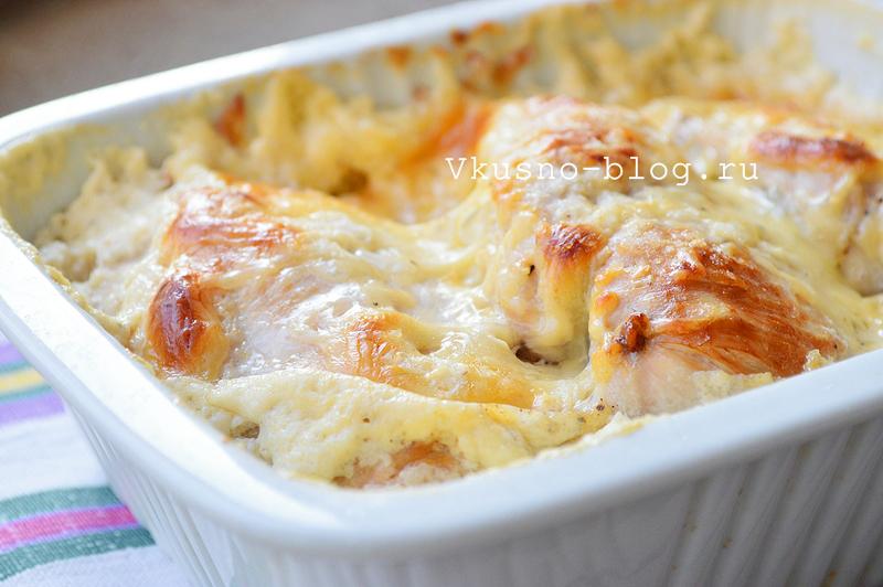 Куриное филе в сливках с сыром - 6