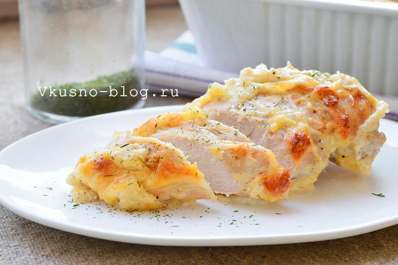 Куриное филе в сливках с сыром -