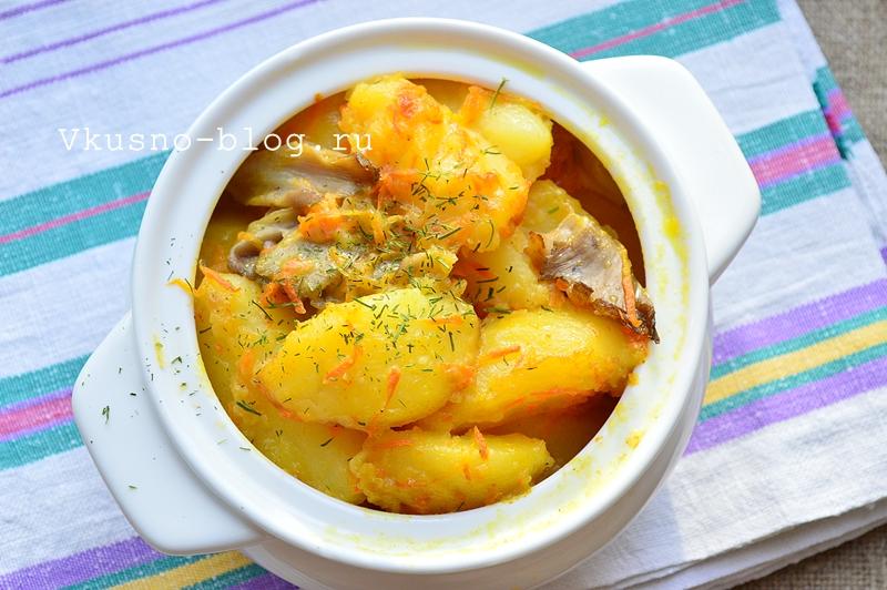 Картошка в горшочках с грибами - 8