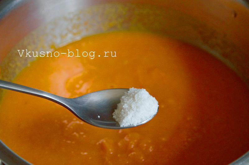 Солим и перчим крем-суп из моркови