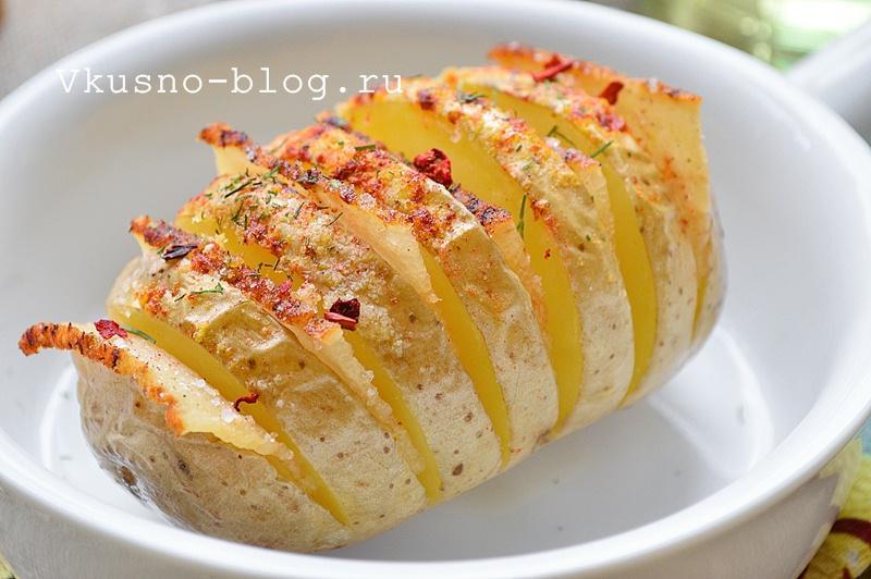 Картошка-гармошка с салом в духовке 6