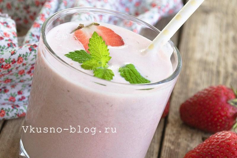 Молочный коктейль с клубникой 5