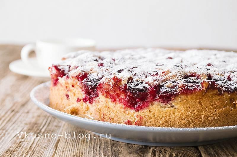 Пирог с вишней 8