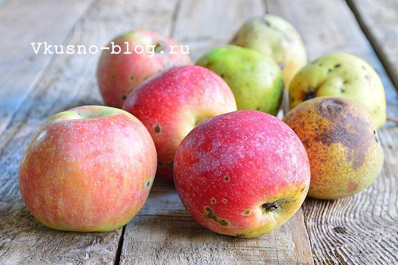 Яблочное пюре с грушами на зиму 1