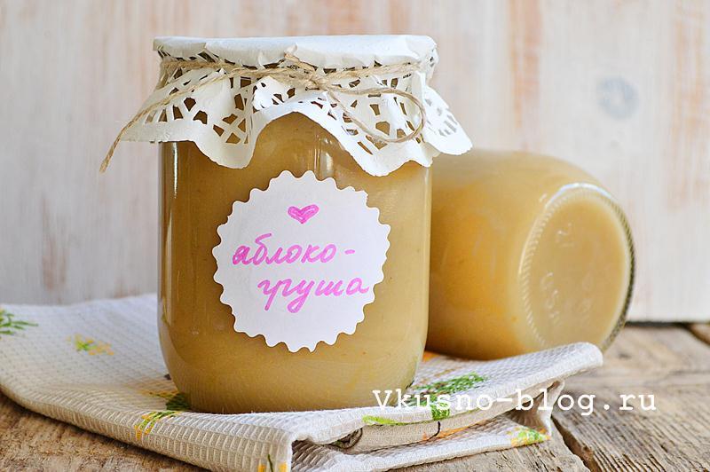 Яблочно-грушевое пюре на зиму