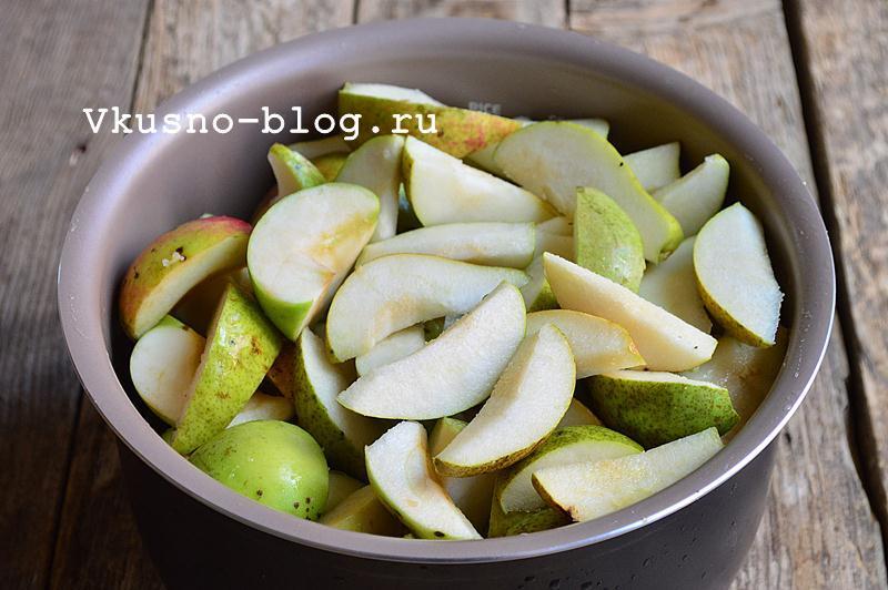 Яблочное пюре с грушами на зиму 2