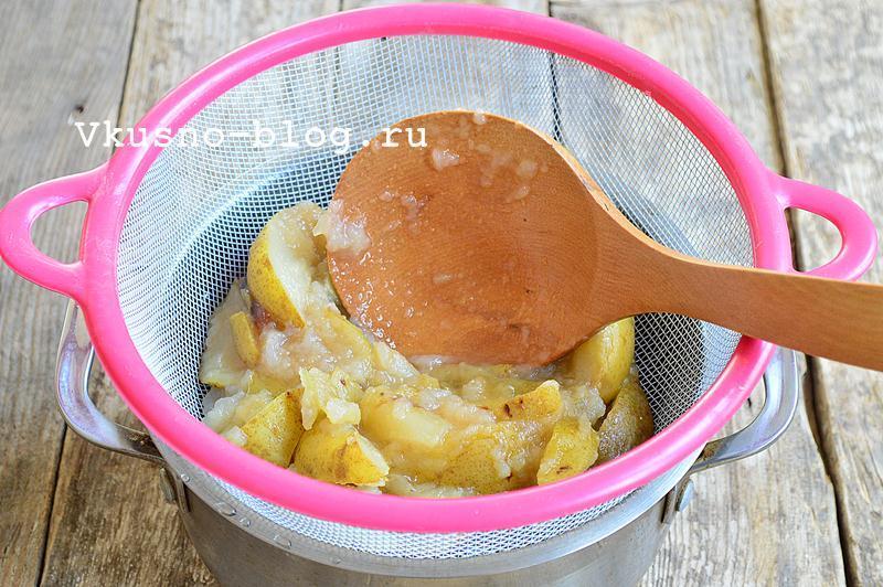 Яблочное пюре с грушами на зиму 4