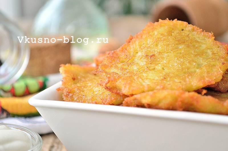 Драники картофельные. Рецепт с фото