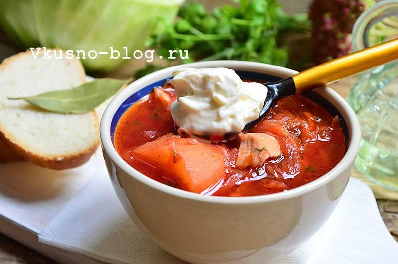 Борщ с болгарским перцем
