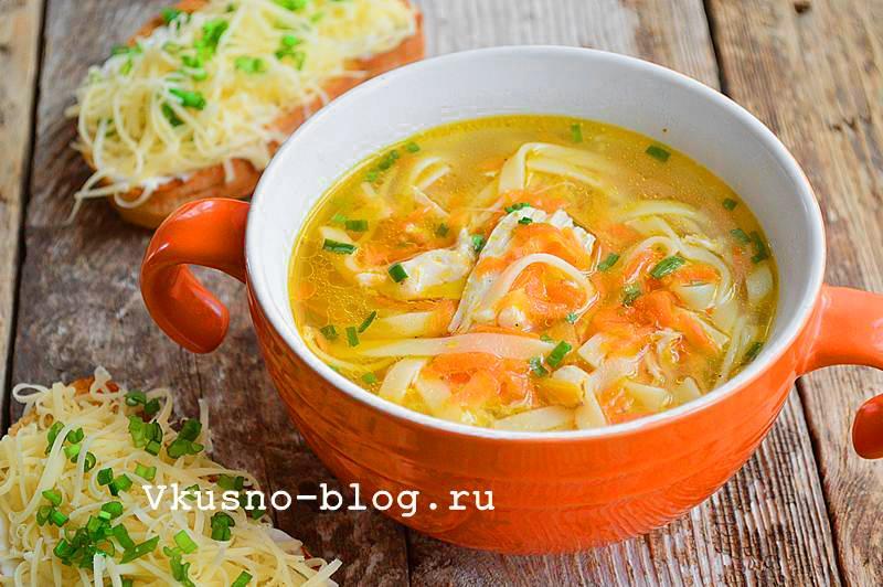Куриный суп с лапшой рецепт