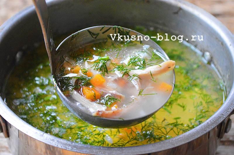 Куриный суп с рисом фото