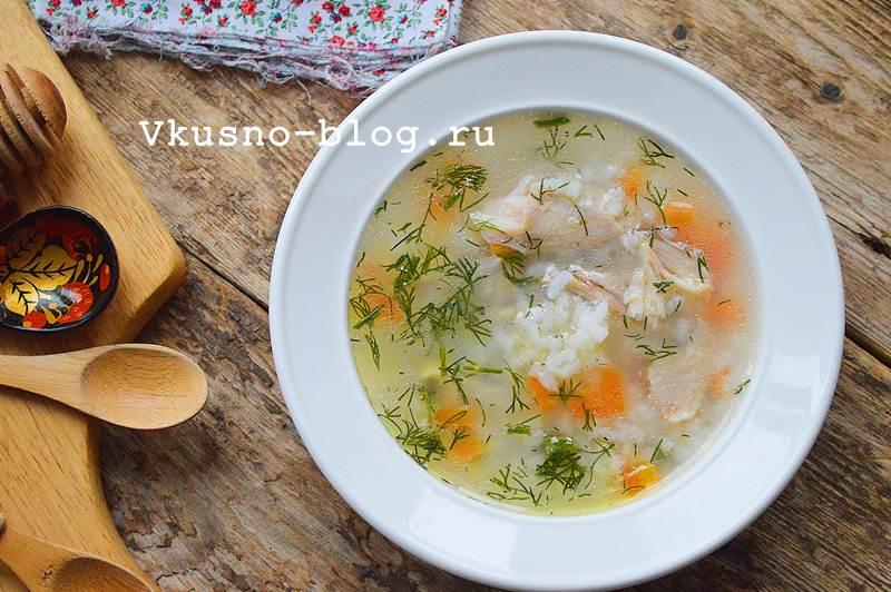 Куриный суп с рисом рецепт с фото