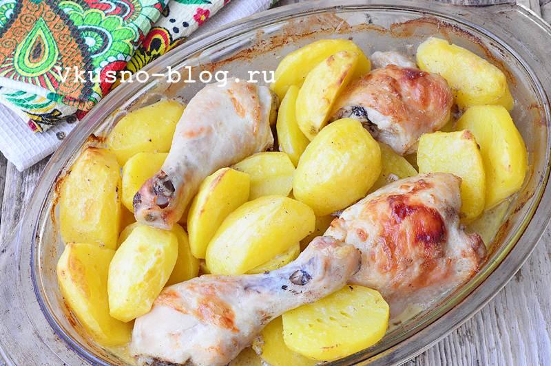 Курица с картошкой фото