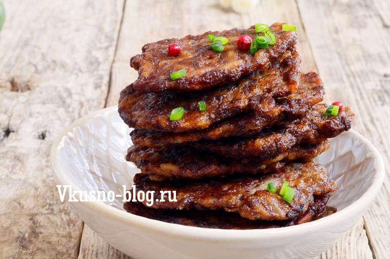 Оладьи печеночные рецепт с фото