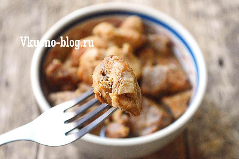 Тушеная свинина рецепт с фото пошагово
