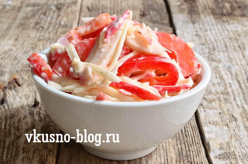 Салат красное море с крабовыми